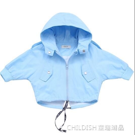 風衣外套 女童風衣新款韓版童裝中小兒童洋氣公主寶寶外套棒球服潮 童趣潮品