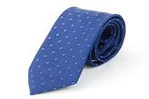 【Alpaca】深藍格紋雙亮點領帶