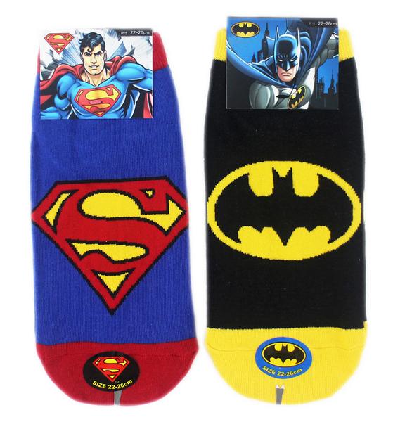 【卡漫城】 襪子 22-26cm 三雙組 直版襪 ㊣版 短襪 台灣製 超人 蝙蝠俠 Superman Batman
