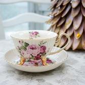 日本玫瑰花下午茶杯陶瓷杯碟組416500通販屋