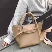 小瑞靚包鎖扣翅膀包包女2018新款手提包簡約時尚大容量單肩大包包