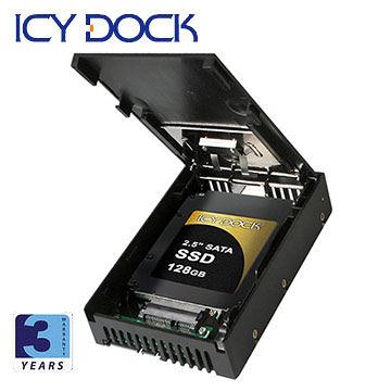[富廉網] ICY DOCK MB882SP-1S-1B 2.5吋轉3.5吋SATA/SSD硬碟轉換盒