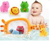 寶寶洗澡嬰兒玩具捕魚撈網撈小魚兒童游泳戲水上浴室玩具0-3-6歲年貨慶典 限時鉅惠