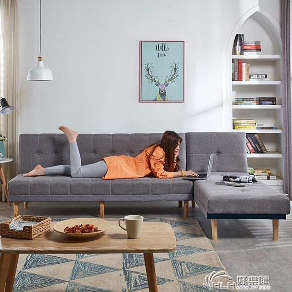 沙發小戶型網紅款可摺疊沙發床兩用雙人簡易約出租房懶人沙發客廳好樂匯