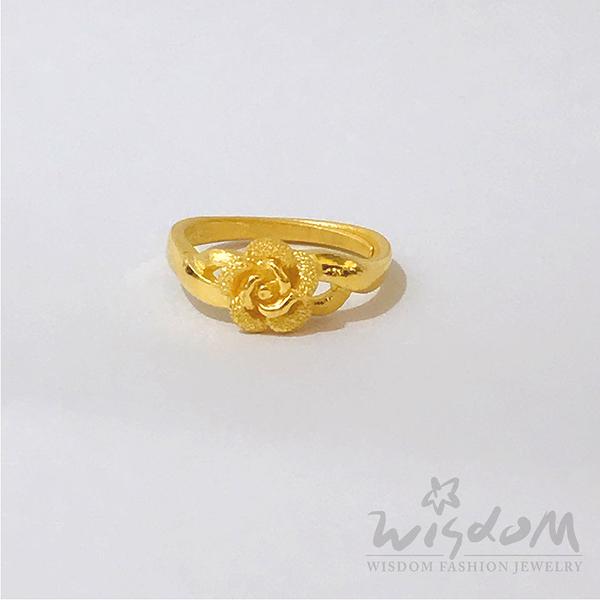 威世登 黃金花型戒 約1.30~1.33錢 GA01135-FXX-FIX