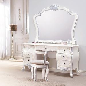 【YFS】荷璉娜法式5尺鏡台含椅-146*52*191cm