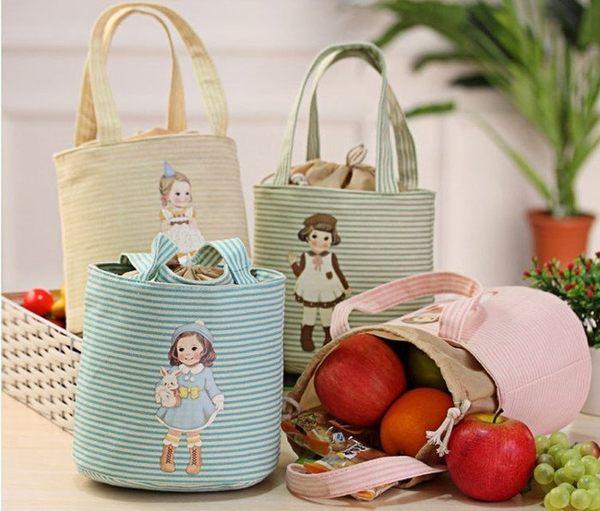 【發現。好貨】韓國熱賣可愛洋娃娃保溫 保冰便當包 學生手提午餐盒 母奶袋 手提袋