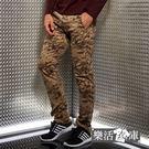 【2029】菁英之選戰術迷彩小直筒休閒長褲(黃色)● 樂活衣庫