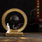 創意陶瓷倒流香爐熏香爐禪意家用辦公室內LED吊燈擺件 ciyo黛雅