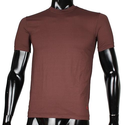 BURBERRY 輕著圓領透氣排汗棉T上衣(咖啡色)085184-2
