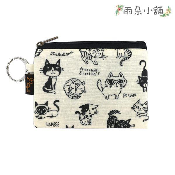 零錢包 包包 防水包 雨朵小舖雨朵防水包 M048-355 四方大零錢包-白黑白短毛貓02577 funbaobao