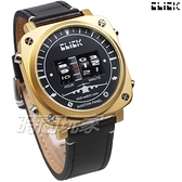 Click 飛機儀表板 創意 造型 腕錶 創新風格 趣味 皮帶 霧金色 男錶 CL-713B-GOBK-R