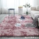 北歐ins網紅同款扎染地毯客廳茶幾墊長毛臥室地墊滿鋪可愛床邊毯 618購物節 YTL