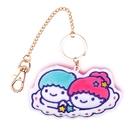Sanrio 美樂蒂&KIKI LALA 45週年系列 絨毛刺繡吊飾 KIKI LALA 桃