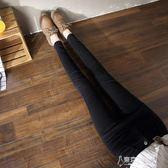 年春裝牛仔褲女長褲黑色高腰彈力顯瘦鉛筆褲 東京衣秀