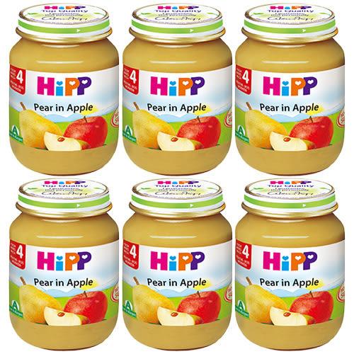 HiPP 喜寶 有機蘋果西洋梨泥125g x6罐