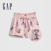 Gap女幼童 Gap x Disney 迪士尼系列純棉透氣短褲 689366-米妮圖案