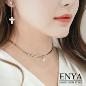 氣質淑女單珍珠頸鍊 Enya恩雅(正韓飾品)【NEAW6】