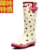 長筒雨靴-韓版時尚甜美愛心女雨鞋66ak38【時尚巴黎】