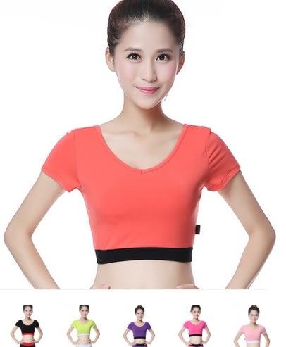 瑜伽服健身服含胸墊單件莫代爾上衣  - dixia0019