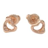 Tiffany & Co 蒂芬妮 18K玫瑰金摟空愛心形狀耳環 【二手品牌 BRAND OFF】