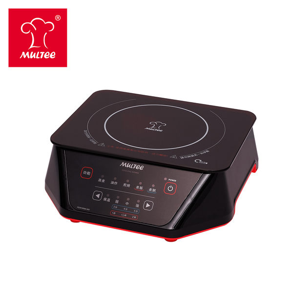 【MULTEE摩堤】A5 F8 IH智慧電磁爐 金屬黑(800W 頂級精巧款)