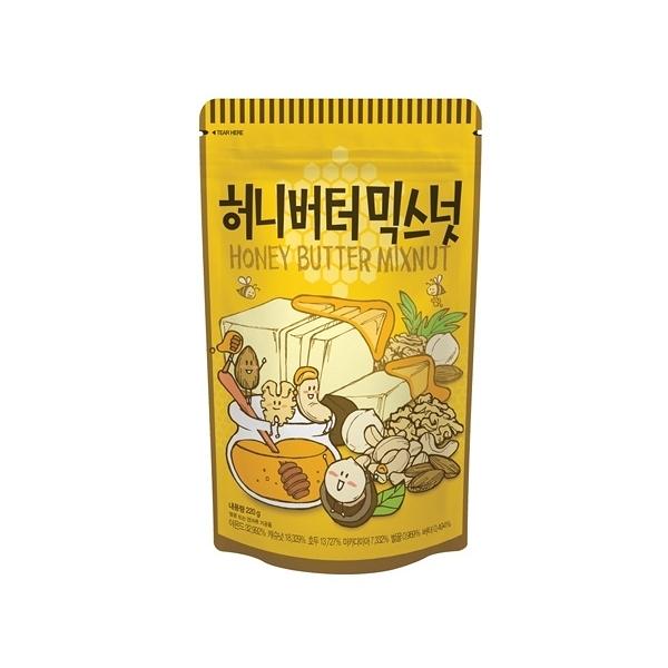 韓國 Tom's 綜合堅果(蜂蜜奶油味)220g【小三美日】