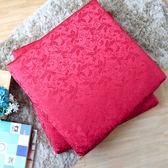 【R.Q.POLO】如意紅 頂級三段式記憶坐墊/實木沙發/和室墊/緹花表布/54X56X6cm(1入)