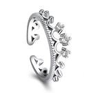 設計皇冠女神銀指環韓國新款鍍銀花冠戒指手飾 《小師妹》ps502