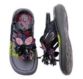 MODO.炫彩晶鑽/夾腳涼鞋-THE ONE-手工氣墊鞋(全牛皮)-G50707 黑