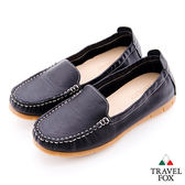 Travel Fox(女)放輕鬆 180度超柔軟鬆緊帶登機鞋 - 自在黑