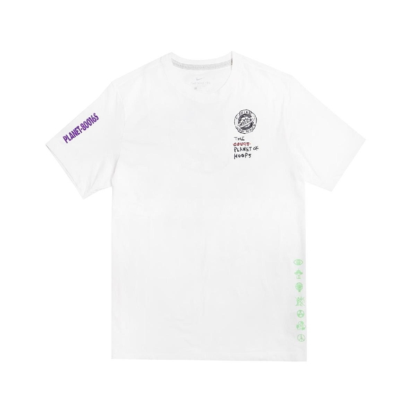 Nike 短袖T恤 Summer Hoops Top 白 黑 男款 籃球星球 夜光 運動休閒 【PUMP306】 CW4817-100