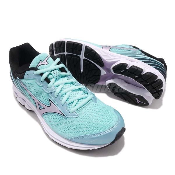 Mizuno 慢跑鞋 Wave Rider 22 Wide 寬楦頭 美津濃 藍 銀 運動鞋 女鞋【PUMP306】 J1GD1832-69