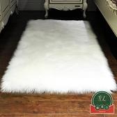 床邊地毯臥室可愛仿羊毛地毯飄窗長毛地墊【福喜行】