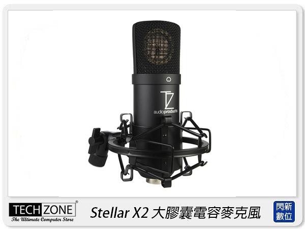 Techzone Stellar X2 大膠囊電容麥克風 專業收音 雙耳 麥克風 直播(公司貨)