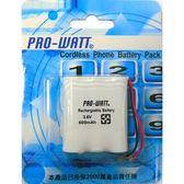 PRO-WATT萬用接頭 無線電話電池3.6V 600mah(P100)