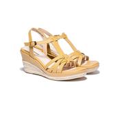 ORWARE-女厚底涼拖鞋651028-04黃