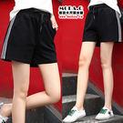 *MoDa.Q中大尺碼*【X789】超大碼百搭白邊條綁繩造型口袋運動短褲