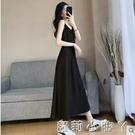 黑色雪紡吊帶裙洋裝女春夏中長款氣質顯瘦內搭打底長裙外穿裙子 蘿莉新品