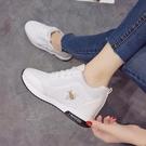 小白鞋女內增高夏季新品百搭鬆糕厚底夏透氣休閒女鞋學生白鞋