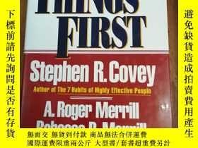 二手書博民逛書店First罕見Things First 【精裝16開,近 】Y1