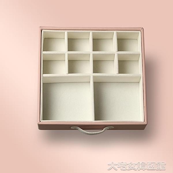 Sofis小馬多層大首飾盒首飾收納盒耳環盒飾品收納盒帶鎖帶鏡韓國  大宅女韓國館韓國館