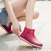 春夏季雨鞋女時尚潮流雨靴中筒水鞋短筒水靴膠鞋牛筋厚底防滑套鞋 『歐尼曼家具館』