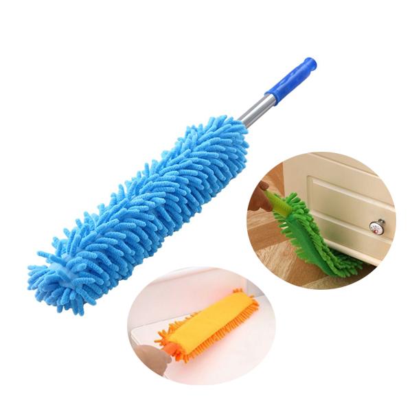 縫隙灰塵刷 除塵撣子 雞毛撢子 縫隙除塵棒 雪尼爾 可彎曲 乾濕二用 打掃工具 清潔灰塵 顏色隨機
