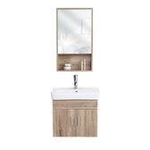 浴室櫃  洗手盆柜組合洗臉盆浴室柜陽臺實木廁所掛墻式小戶型簡約現代北歐