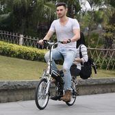 電瓶車 折疊電動自行車鋰電池助力車迷你成人電瓶車男女士小型電動車 JD 玩趣3C