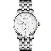 限量 MIDO美度 Baroncelli 2018 百年紀念機械錶-銀/38mm M86084261