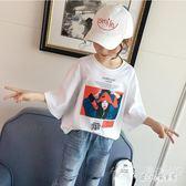 女童寬鬆半袖T恤秋季 2019新款韓版兒童中大童中袖洋氣春裝恤衫  LN5453【甜心小妮童裝】