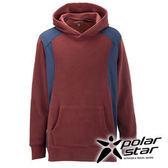 PolarStar 中性 連帽刷毛保暖衣『酒紅』P15209