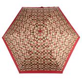 COACH 滿版C LOGO塗鴉愛心晴雨傘(紅色)193717-19